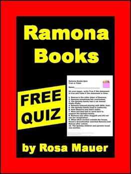 Ramona Books True or False Free Quiz