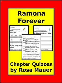 Ramona Forever Chapter Quizzes