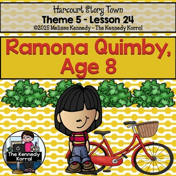 StoryTown Lesson 24 {Ramona Quimby, Age 8 - 3rd Grade}