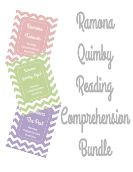 Ramona Quimby Reading Comprehension Bundle