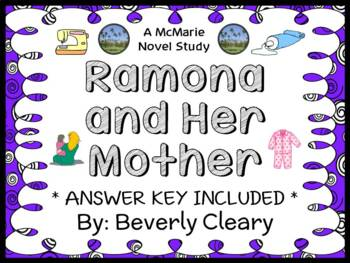 Ramona and Her Mother (Beverly Cleary) Novel Study / Readi