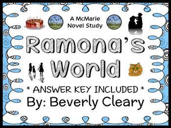 Ramona's World (Beverly Cleary) Novel Study / Reading Comp