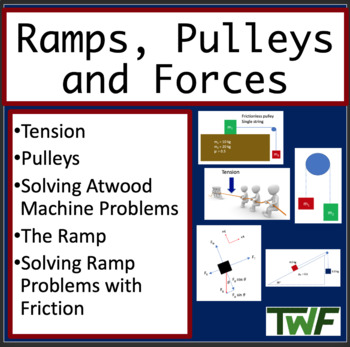 Ramps, Pulley's and Forces - Physics PowerPoint Lesson wit