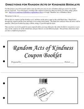 Random Acts of Kindness Coupon Book