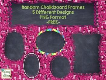 Random Chalkboard Frames ~FREE~ Clip Art
