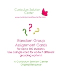 Random Group Assignment Cards {Cooperative Learning, Ice B