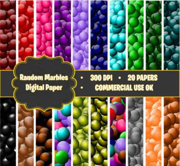 Digital Papers - Random Marbles