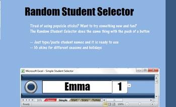 Random Student Selector Excel File