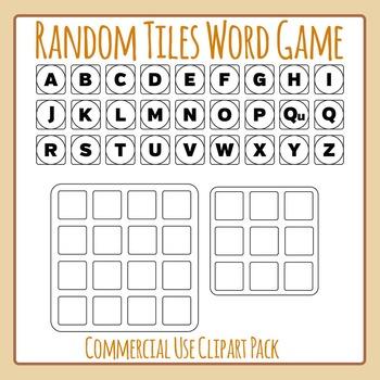 Random Word Game BW- Similar to Boggle or Boggle Like - Co