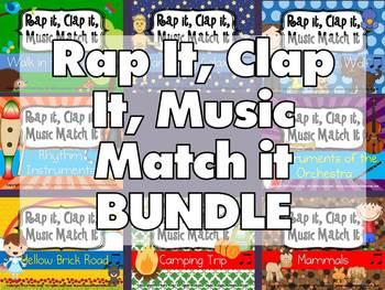Rap It, Clap It, Music Match It Bundle of 8 Sets