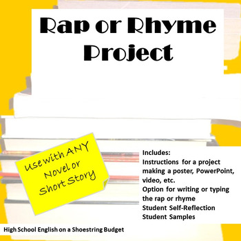 Rap or Rhyme Project, Works with Any Novel or Short Story
