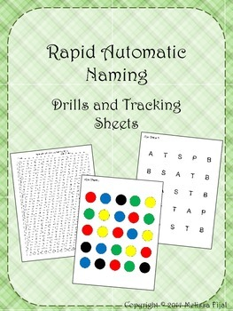 Rapid Automatic Naming Trial and Tracking Sheets