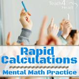 Rapid Calculations COMPLETE SET: mental math activity / ma