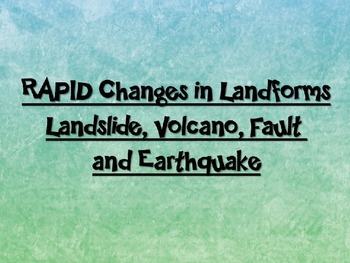 Rapid Changes in Landforms