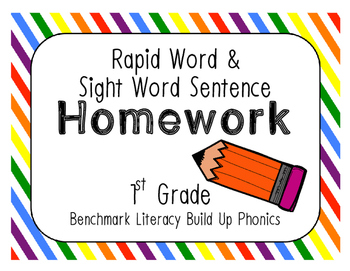 Benchmark Literacy Build Up Phonics Rapid Words & Sight Wo