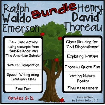 Raplh Waldo Emerson and Henry David Thoreau Bundle