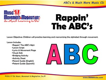 Rappin' The ABC's Song (Mp3) and Lesson Materials