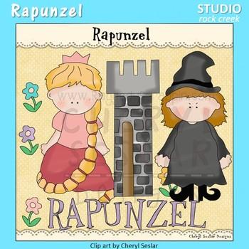 Rapunzel Color Clip Art  C. Seslar tower flower mother