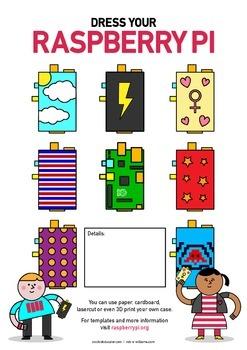 Raspberry Pi Poster - Design a Case - High Quality - Space