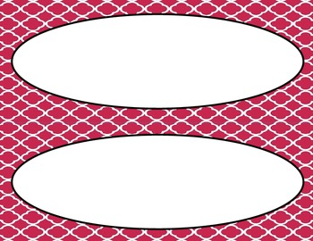 Raspberry Wine Tile Classroom Tags and Labels