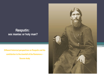 Rasputin: sex maniac or holy man?
