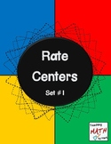 Rate Centers - Set #1
