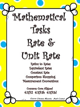 Rate and Unit Rate:  Mathematical Tasks  Constant Speed, C