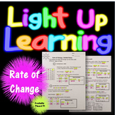 Rate of Change Guided Notes Color Coded