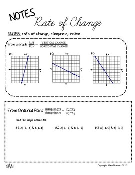 Rate of Change (SLOPE) Guided Notes