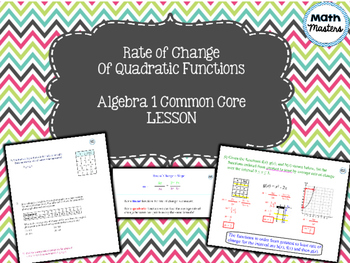 Rate of Change of Quadratic Functions