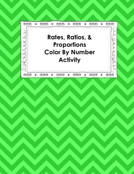 Rates, Ratios, and Proportions Color By Number