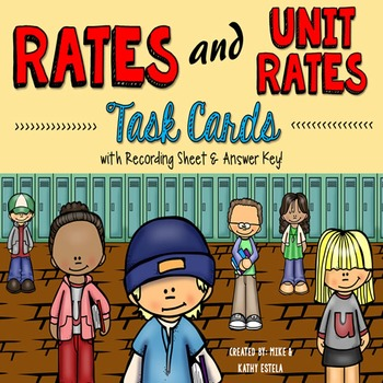 Rates and Unit Rates Task Cards