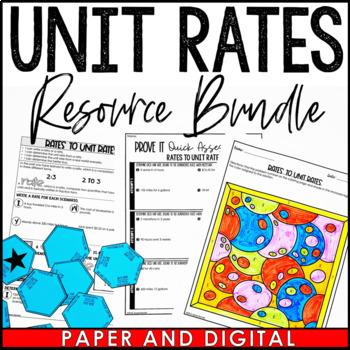 Rates to Unit Rates Lesson Bundle
