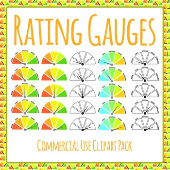 Rating Gauge - Commercial Use Clip Art Pack