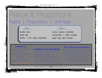 Ratio   Proportion   Unit Rate - Interactive Student Notes