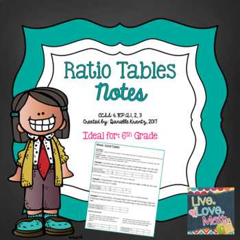 Ratio Tables Notes