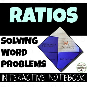 Ratio Word Problems Interactive Notebook Graphic Organizer