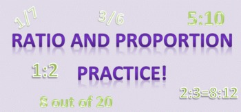 Ratio Worksheet and Extra Practice