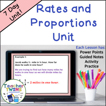 Ratio and Proportion Unit Common Core 7 RP 1 and 7 RP 3