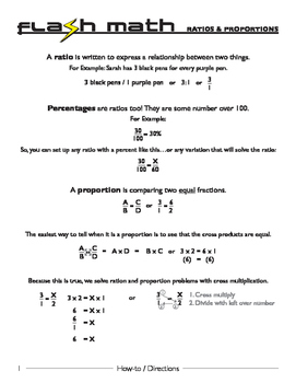 Ratio and Proportions [Flash Math]