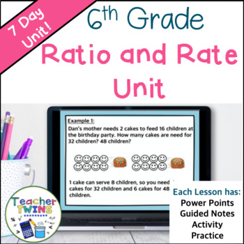 Ratio and Rate Common Core 6.RP.1, 6.RP.2, and 6.RP.3 A,B,D