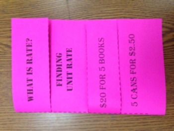 Ratio and Rate Foldable