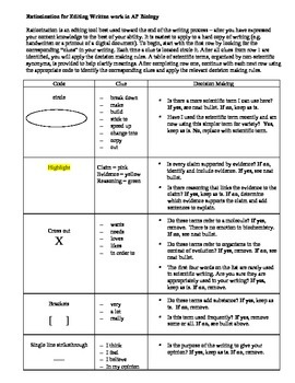 Ratiocination for Editing Scientific Writing in AP Biology