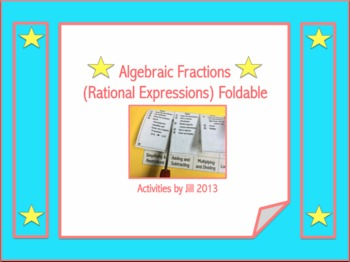 Rational Expressions Unit Foldable