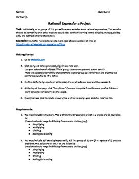Rational Expressions Website Design