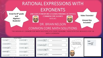 Rational Expressions with Exponents - PowerPoint Lesson an