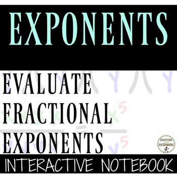 Rational (Fractional) Exponents Color-Coded Interactive No