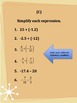 Rational Number Operations Formative Assessment - iPad-Fri