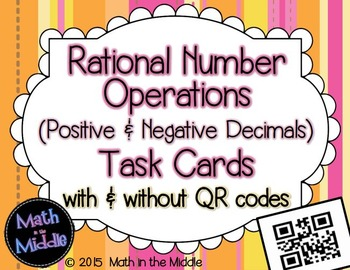 Rational Number Operations (positive & negative decimals)