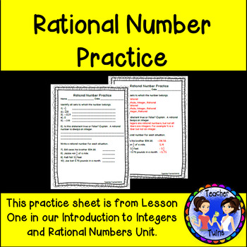 Rational Number Practice
